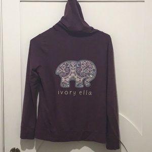 ivory ella Tops - Ivory Ella Zip Up Hoodie